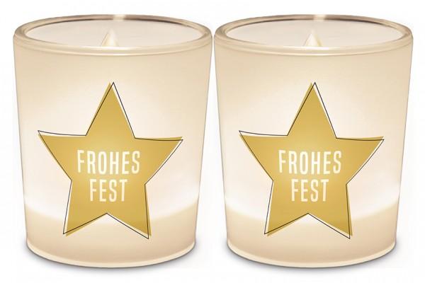 """Teelichthalter """"Frohes Fest"""""""