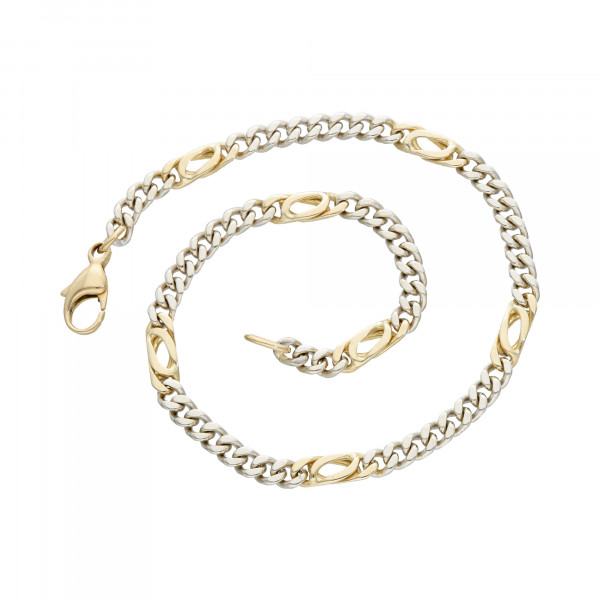 Armband 585 bicolor 24 cm