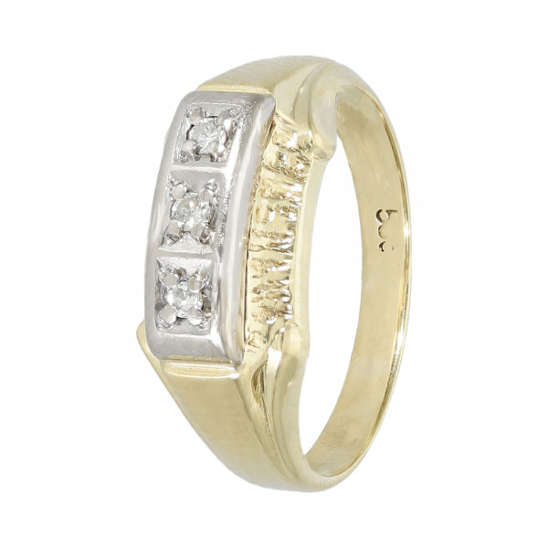 Ring 585 Gelbgold mit Brillanten ca. 0,03ct.