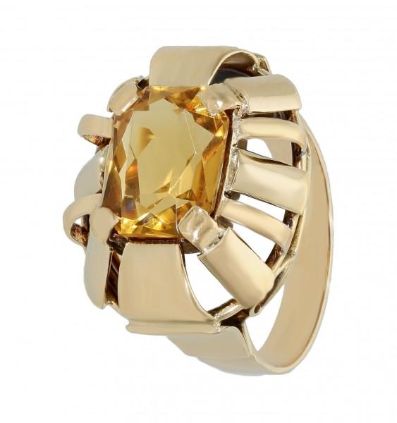 Ring 14 Karat Gelbgold mit Goldtopas