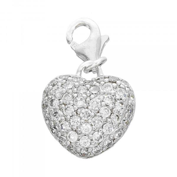 """Anhänger Silber 925 """" Herz"""" mit Kristallen"""