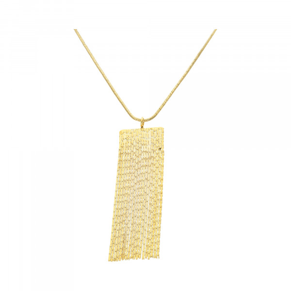 Collier Metall mit Kettenbehang vergoldet