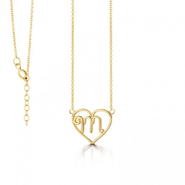 Kette Silber 925 vergoldet - M- Herz L.:42 cm