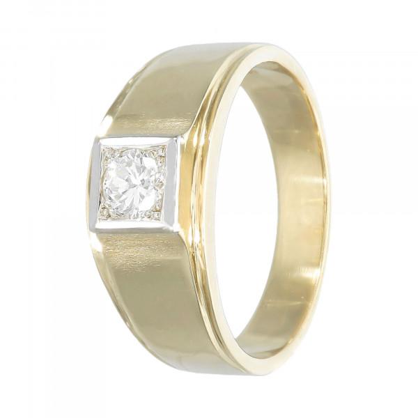 Ring 585 bicolor mit Brillant ca. 0,37ct.