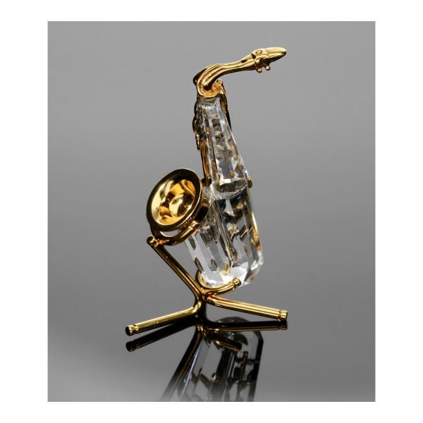 Swarovski Kristall-Figur Saxophone mit Ständer