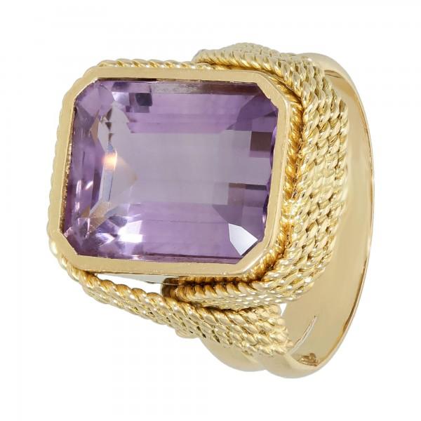 Ring Gelbgold 750 mit Amethyst