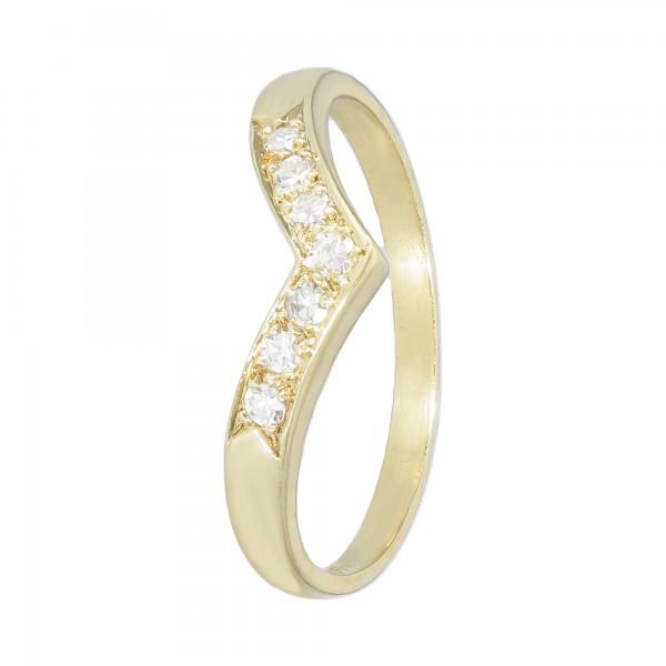 Ring Gelbgold 585 mit Diamanten ca. 0,14 ct
