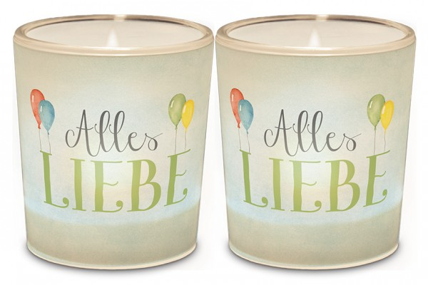 """Teelichthalter """"Alles Liebe"""""""