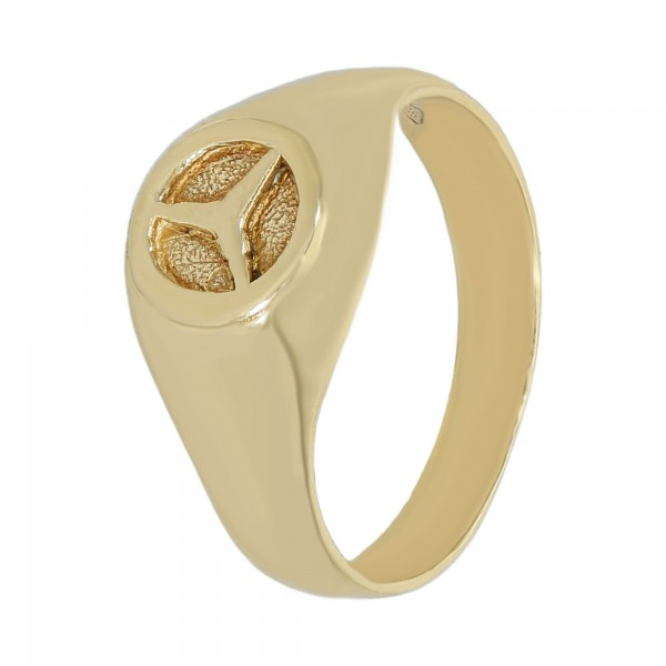 "Ring 585 Gelbgold ""Mercedesstern"""
