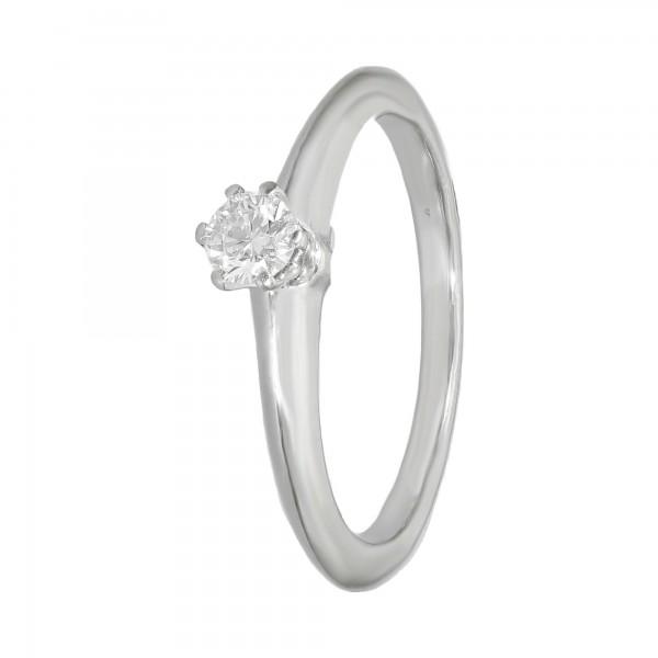 Ring PT 950 Tiffany ca.0,20ct. G/vvsi
