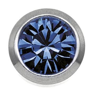 Ohrstecker Chirurgenstahl Zirkonia blau 3 mm