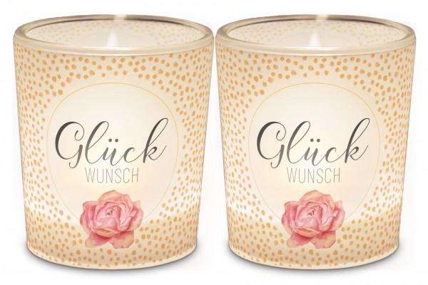 """Teelichthalter """"Glück Wunsch"""""""