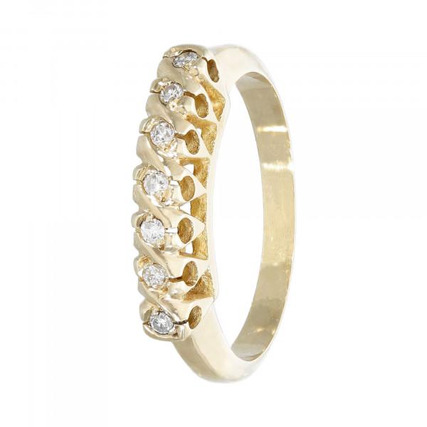 Ring 585 Gelbgold mit 7 Diamanten ca. 0,14 ct.