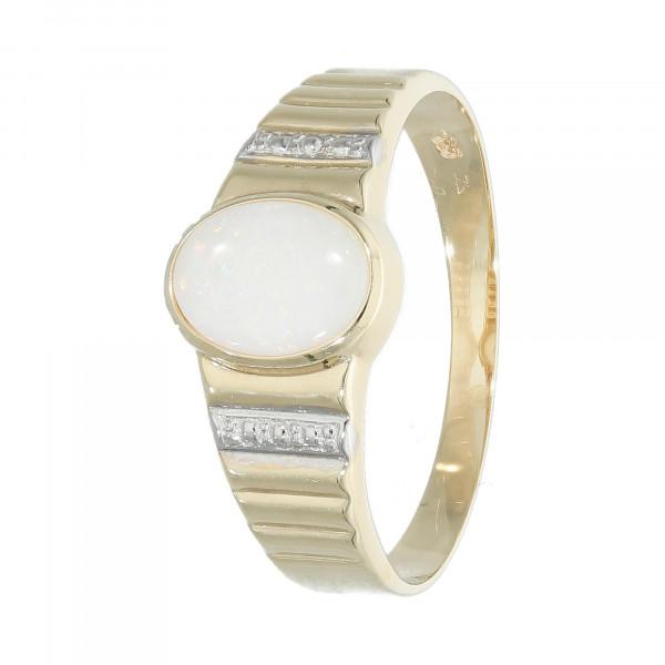 Ring 585 Gelbgold mit Opal