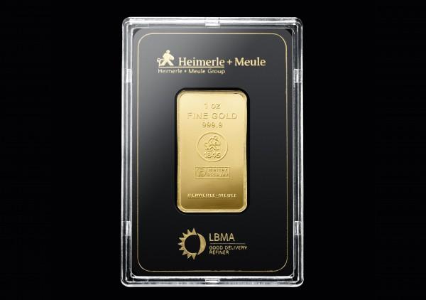 Goldbarren 1 Oz. H+M geprägt