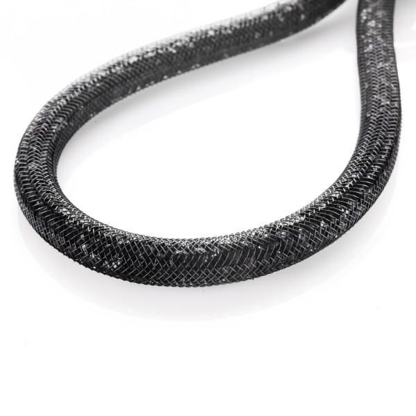 Collier mit Magnetverschluss schwarz 45 cm