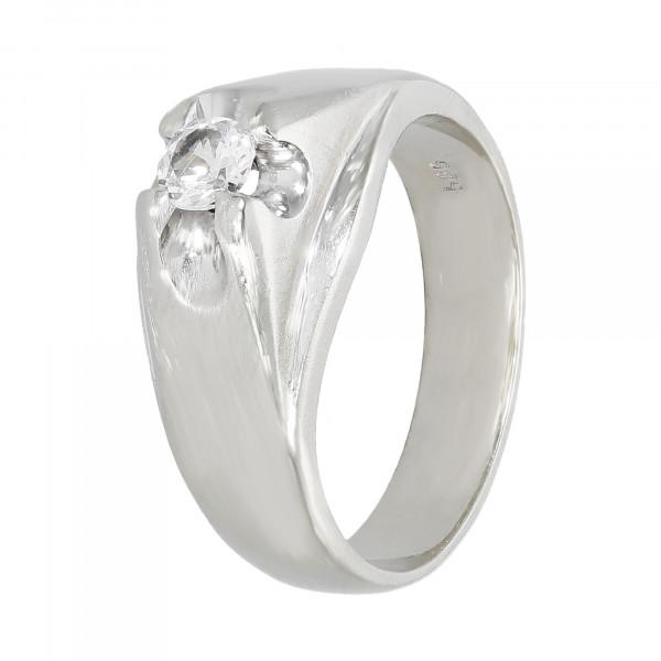 Ring 585 Weißgold mit Zirkonia