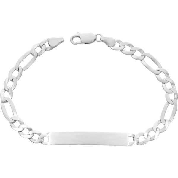 """ID Armband 925 Silber """"Figaromuster"""" 22 cm"""