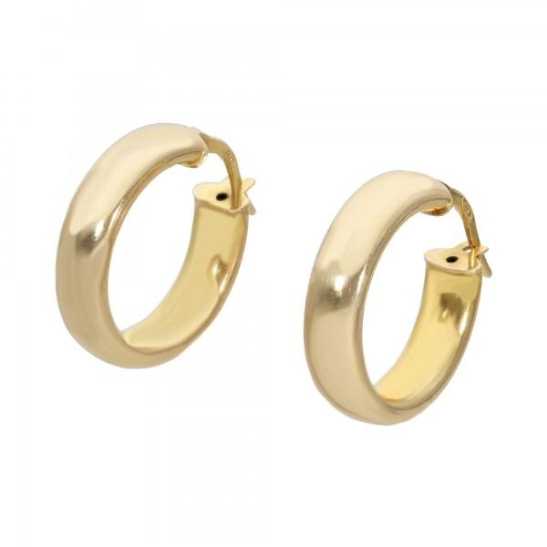 Paar Creolen Gelbgold 585