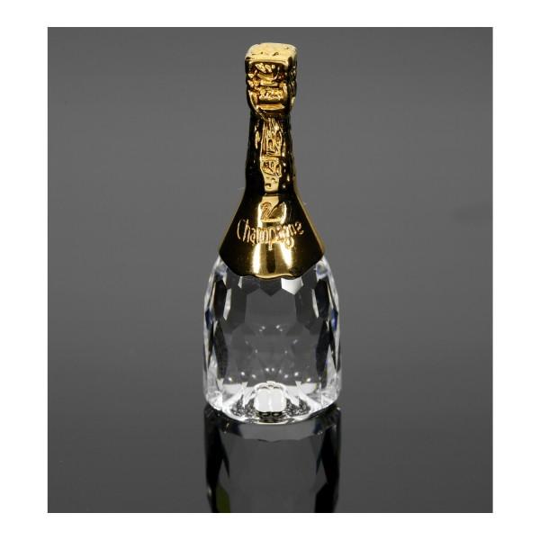 Swarovski Kristall-Figur Champagnerflasche