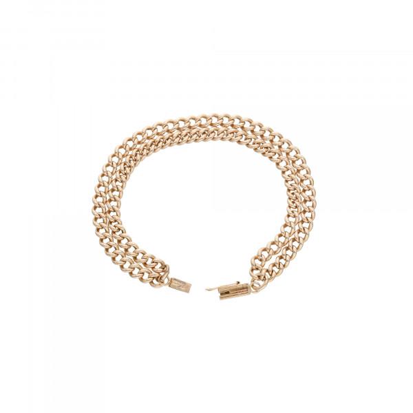 Armband 585 Roségold 2 reihig 18,5 cm