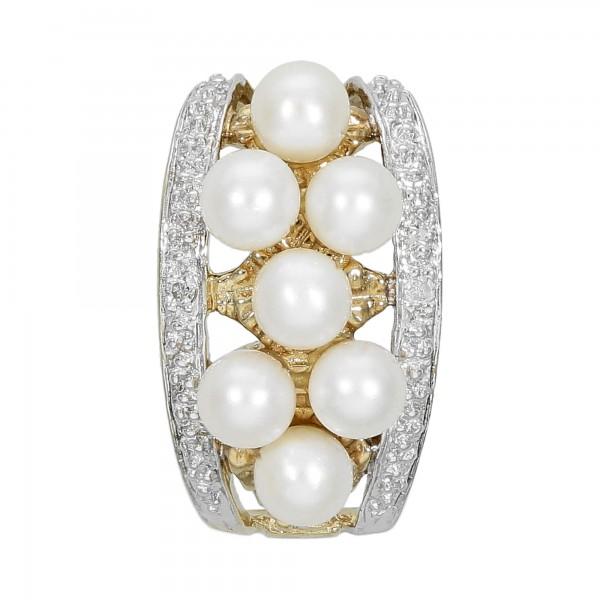 Anhänger Gelbgold 333 mit 7 Perlen und Diamant