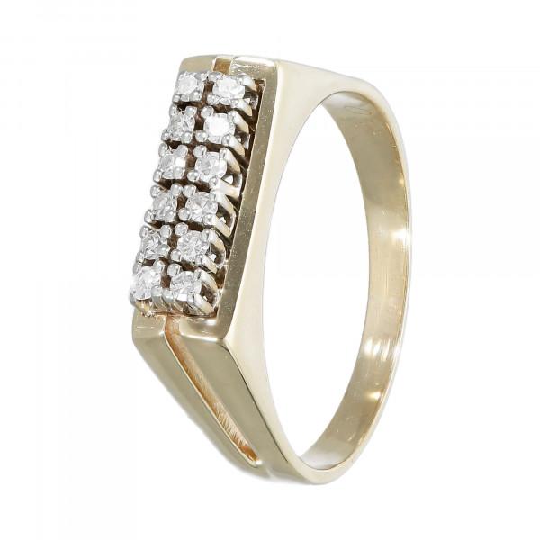Ring 14 Karat bicolor mit Brillanten ca.0,18 ct.