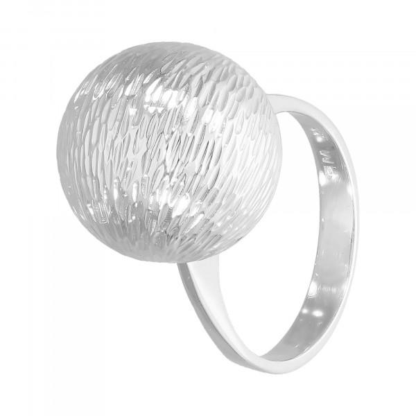 """Ring 585 Weißgold """" Kugel schraffiert """""""