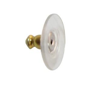 1 Ohrstecker-Verschluss transparent vergoldet