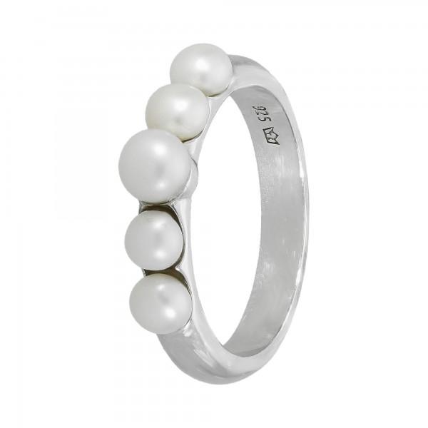 Ring 925 Silber mit 5 Perlen