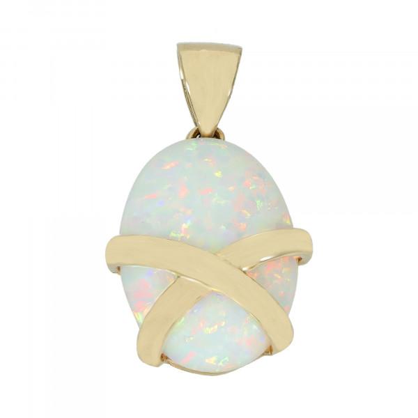 Anhänger 14 Karat mit synthetischen Opal