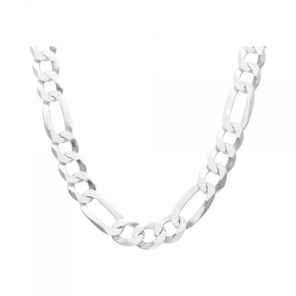 Kette Silber 925 Figaro 60 cm