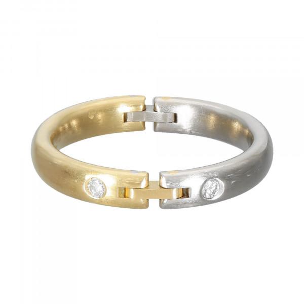 Ring 750/Platin bicolor mit Brillant