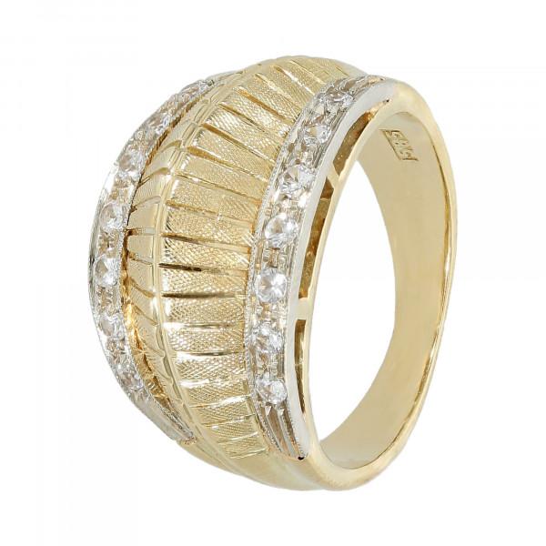 Ring 585 Gelbgold mit Zirkonia