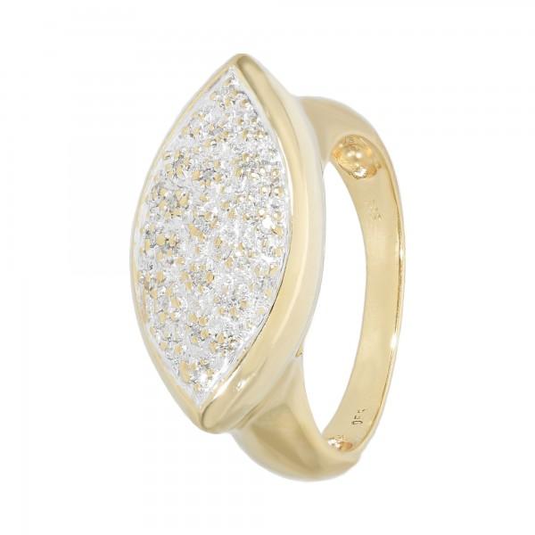 Ring 585 bicolor mit Diamanten