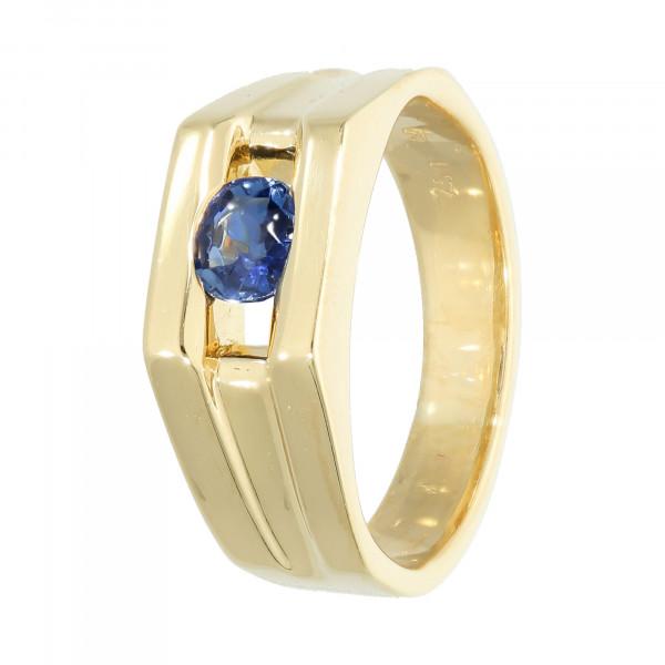 Ring 750 Gelbgold mit Saphir