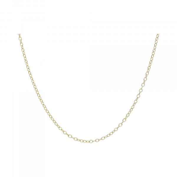 Kette Silber 925 vergoldet Anker 70 cm