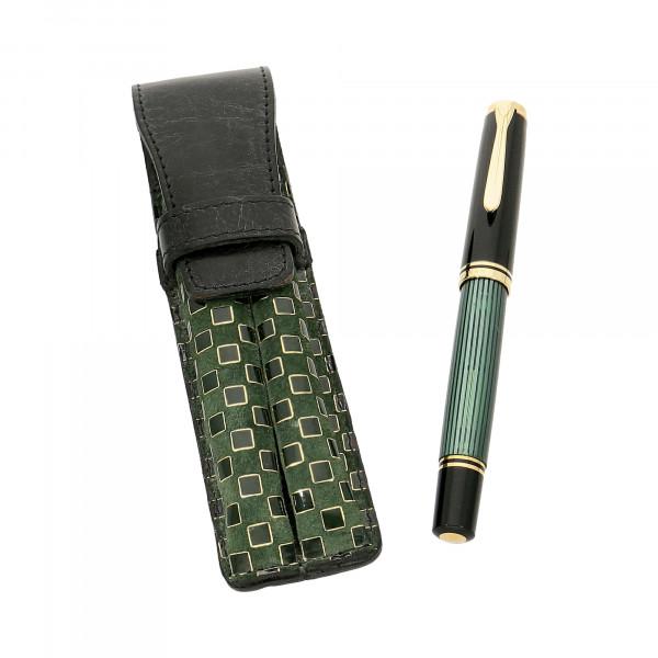 Füller Pelikan schwarz/grün Feder 750/18 C,