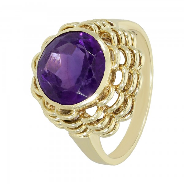 Ring 585 Gelbgold mit Amethyst
