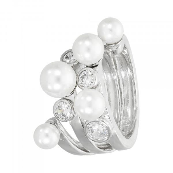 Ring 925 Silber mit Perlen und Zirkonia