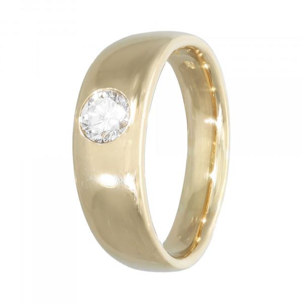 Ring 750 Gelbgold mit Brillant ca.0,44ct.