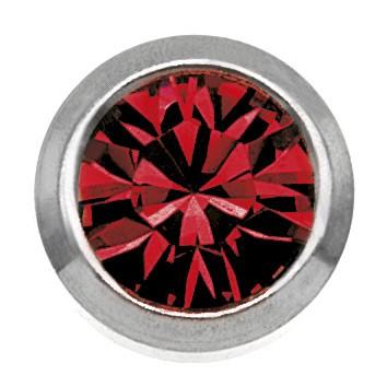 Ohrstecker Chirurgenstahl Zirkonia rot 3 mm
