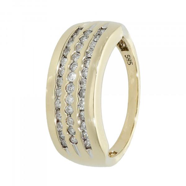 Ring 585 Gelbgold mit Brillanten ca. 0,34 ct.