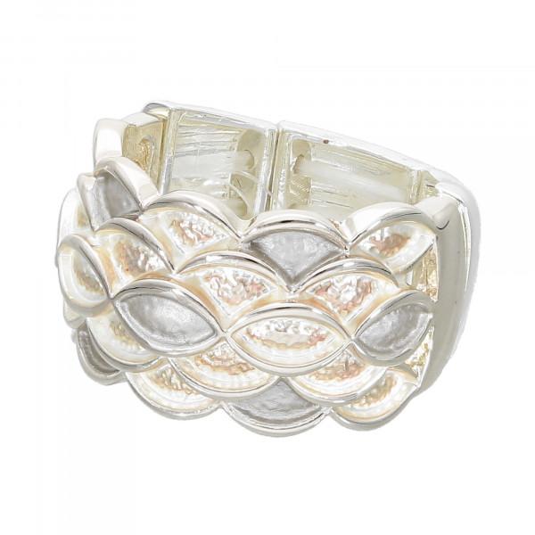 Stretch-Ring silber-matt