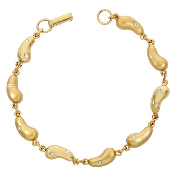 """Armband vergoldet Swarovski """"Erdnüsse"""" mit Kristallen"""