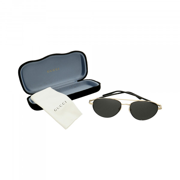 Sonnenbrille GUCCI GG0388S 006 m.Qtg. Pilotenbrille Metall