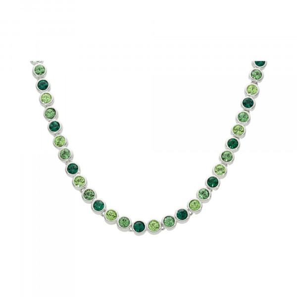 """Collier """"Tennis"""" rhodiniert grün 42 cm"""