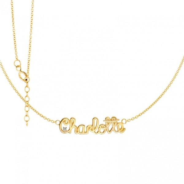 Kette Silber 925 vergoldet -Charlotte- L:42 cm