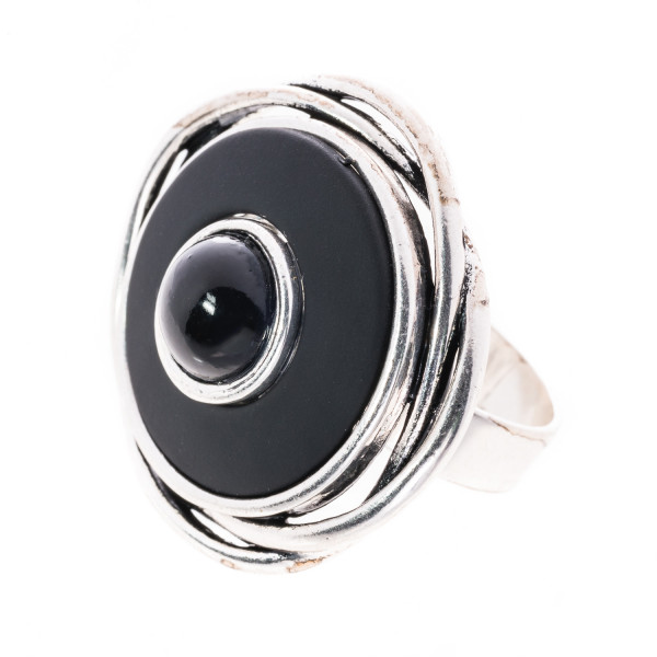 Vario - Ring im USED LOOK schwarz-matt