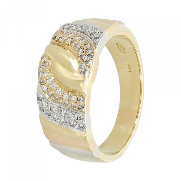 Ring 750 Gelbgold mit Brillanten